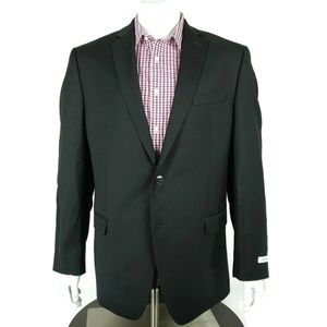 Calvin Klein Blazer Size 40 R Regular Fit Black